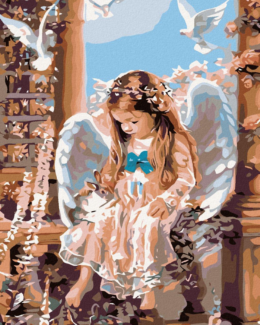 Malowanie po numerach – Aniołek