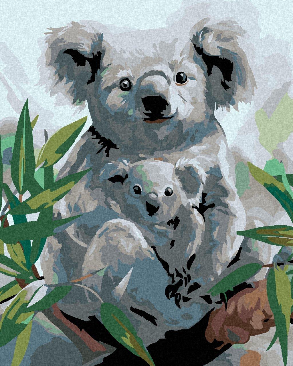 Malowanie po numerach – Koala z młodym