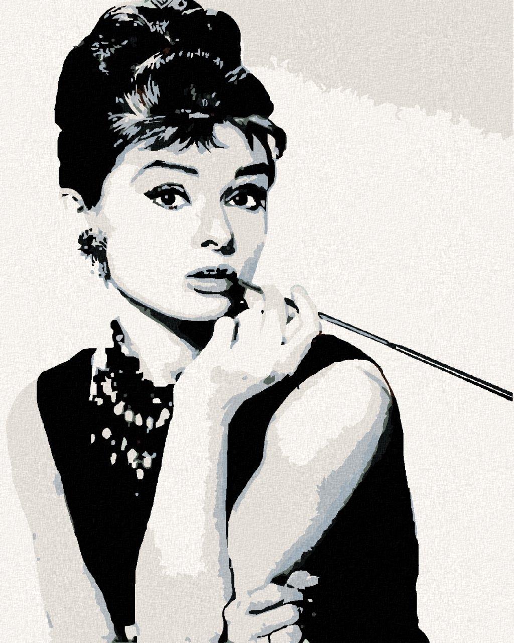 Malowanie po numerach - Audrey Hepburn Cigarello