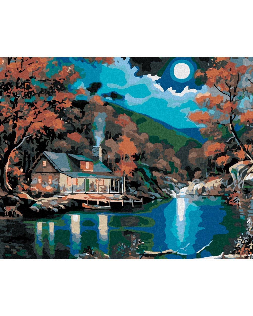 Malowanie po numerach – Domek nad jeziorem