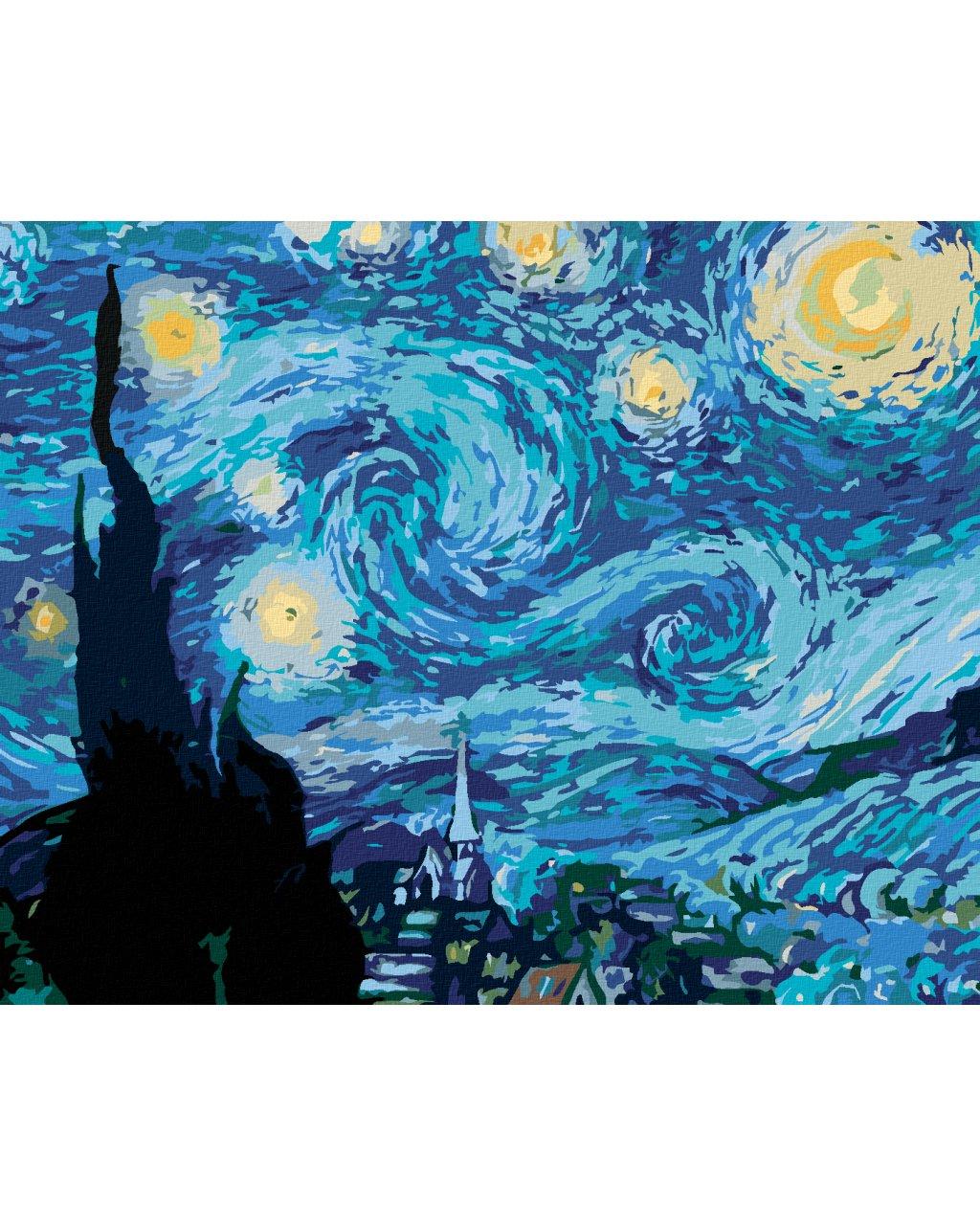Malowanie po numerach - Gwiaździsta noc (Van Gogh)