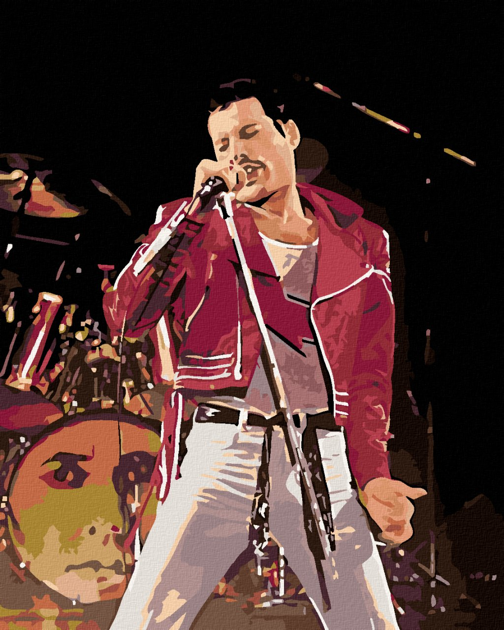 Malowanie po numerach - Freddie na scenie