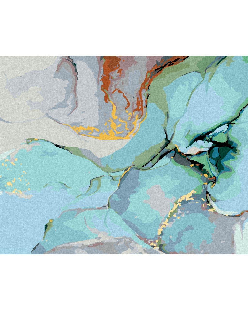 Malowanie po numerach – Turkusowa abstrakcja