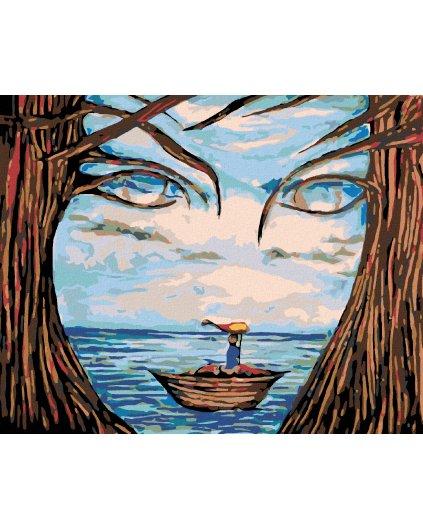 Malowanie po numerach – Łódka, morze, oblicze
