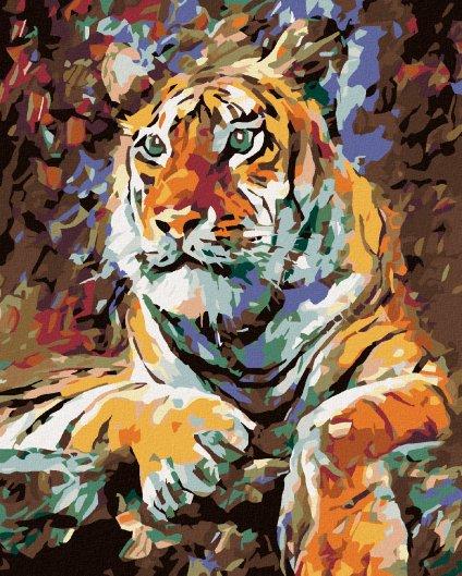 Malowanie po numerach – Odpoczywający tygrys