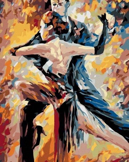 Malowanie po numerach – Impresjonistyczna para w tańcu