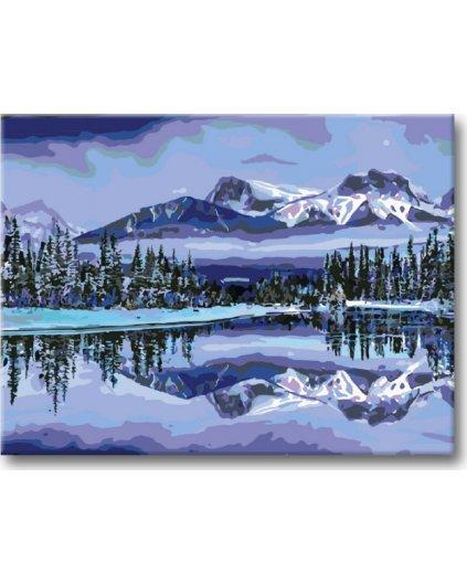 Malowanie po numerach – Alaska, góry, jezioro
