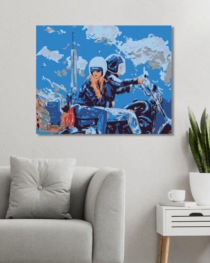 Malowanie po numerach – Przejażdżka na motocyklu