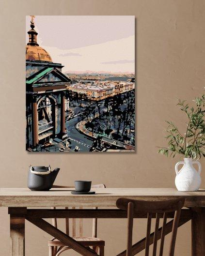 Malowanie po numerach - Widok na miasto z wieży