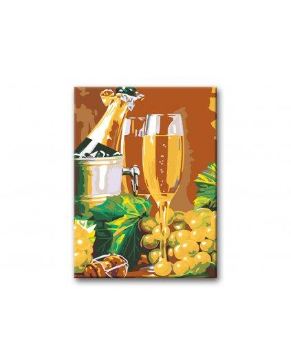 Malowanie po numerach - Lampka szampana