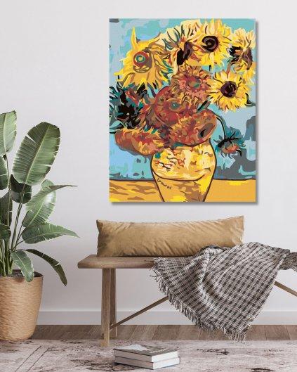 Malowanie po numerach - Słoneczniki (Van Gogh)