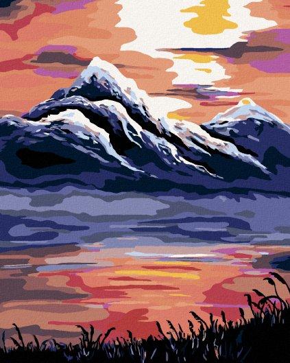 Malowanie po numerach – Zachód słońca nad górami