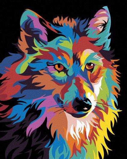 Malowanie po numerach – Kolorowy wilk