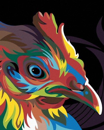 Malowanie po numerach – Kolorowa kura