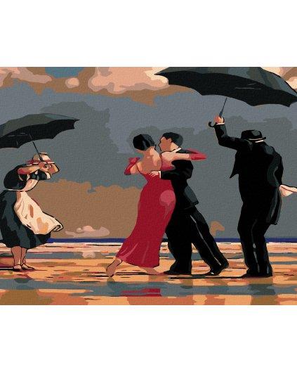 Malowanie po numerach – Taniec w deszczu na plaży
