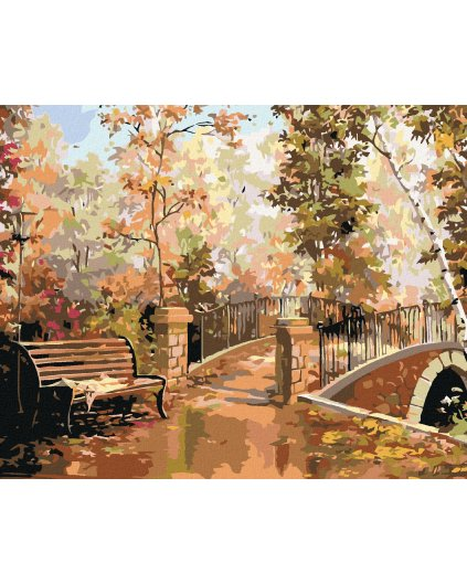 Malowanie po numerach – Na ławce w parku