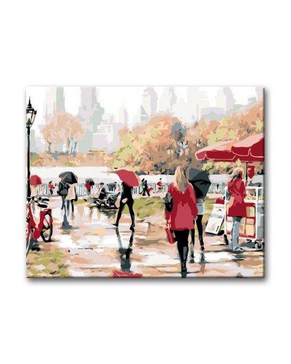 Malowanie po numerach – Central Park w deszczu