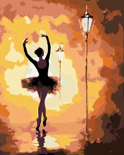 Malowanie po numerach – Baletnica w kolorach jesieni