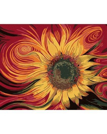 Malowanie po numerach - Ognisty słonecznik