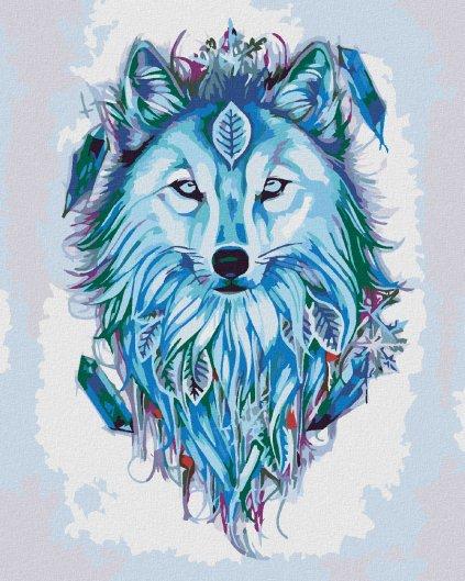 Malowanie po numerach – Wilk z łapaczem marzeń i snów