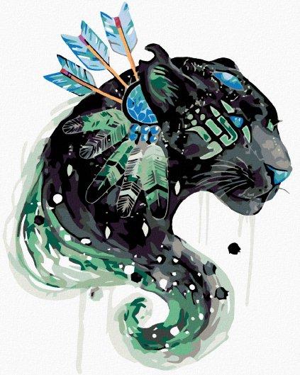Malowanie po numerach – Puma z łapaczem marzeń i snów