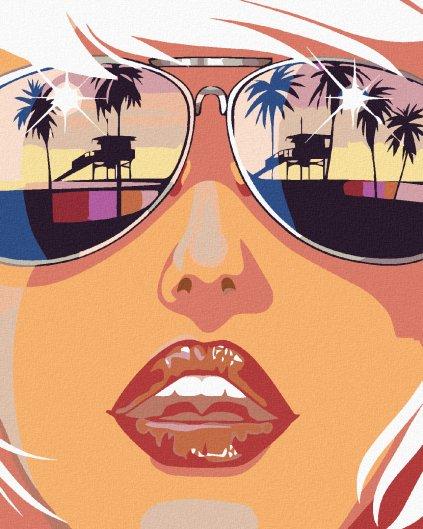Malowanie po numerach - Kobieta w słonecznych okularach