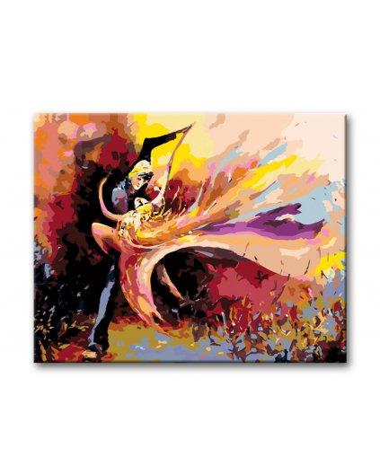 Malowanie po numerach – Kolorowy taniec