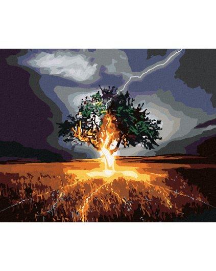 Malowanie po numerach – Drzewo i piorun