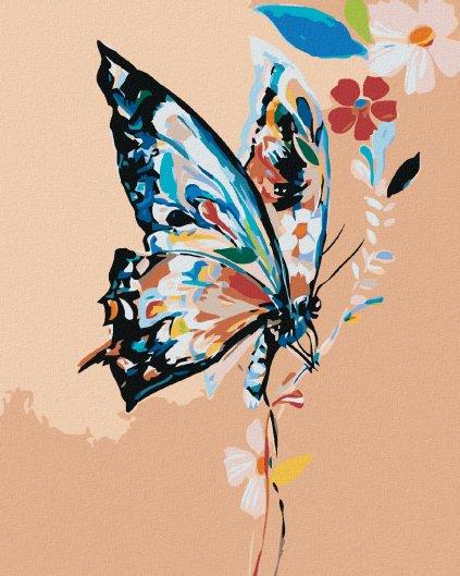 Malowanie po numerach – Kolorowy motyl