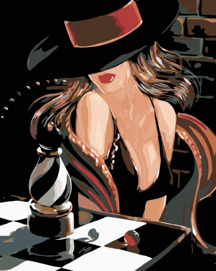 Malowanie po numerach - Sexy szachistka