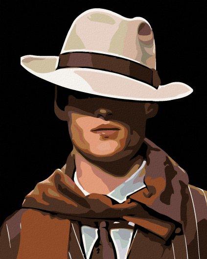 Malowanie po numerach – Tajemniczy mężczyzna w kapeluszu