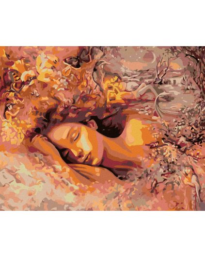 Malowanie po numerach – Śpiąca kobieta