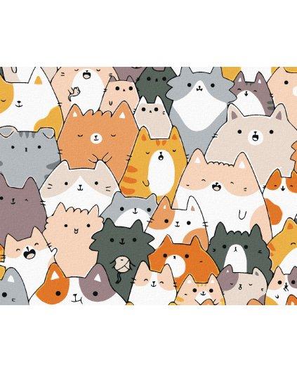 Malowanie po numerach - 30 kotów