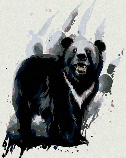 Malowanie po numerach - Niedźwiedź czarny