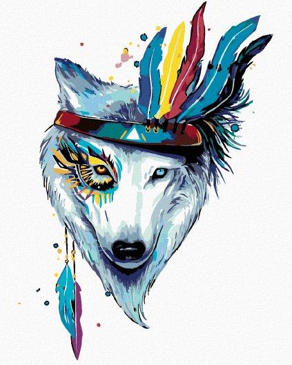 Malowanie po numerach – Wilk z opaską