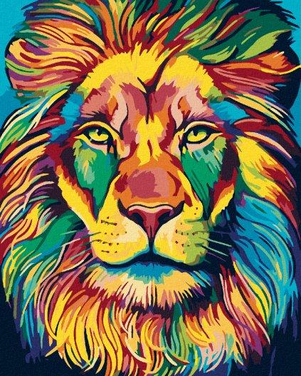 Malowanie po numerach – Barewny lew