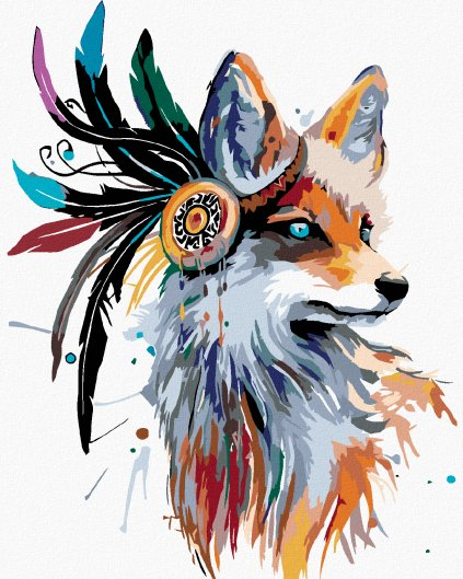 Malowanie po numerach – Indiański lis