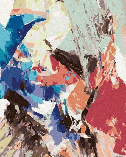 Malowanie po numerach – Kolorowa abstrakcja