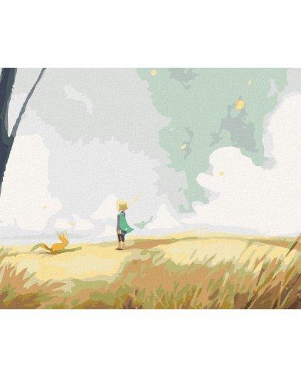Malowanie po numerach - Mały Książę na planecie