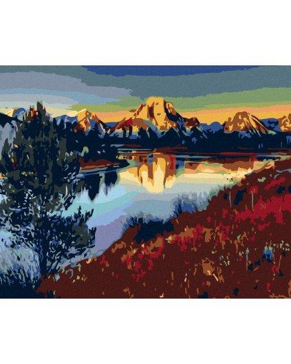 Malowanie po numerach -Jezioro w górach