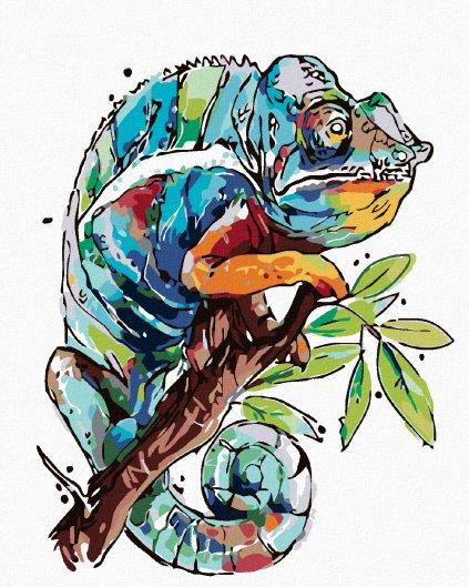 Malowanie po numerach – Kameleon