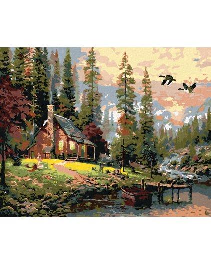 Malowanie po numerach – Drewniana chata w górach