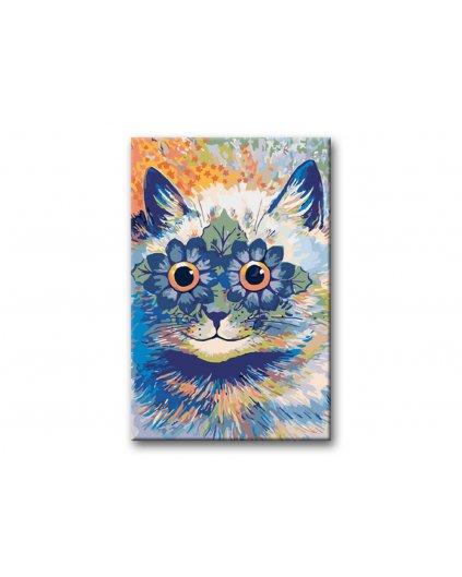 Malowanie po numerach – Kot w kwiaty