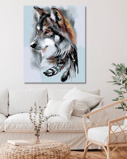 Malowanie po numerach – Indiański wilk