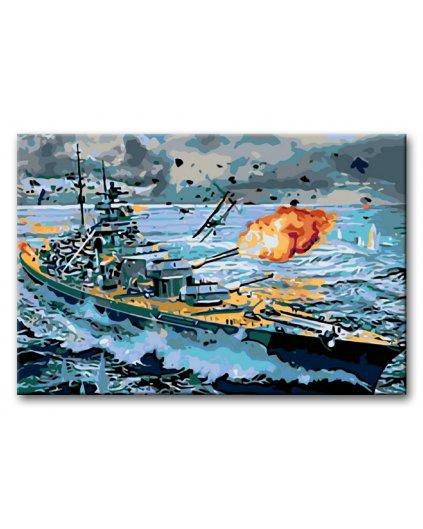 Malowanie po numerach – Okręt wojenny