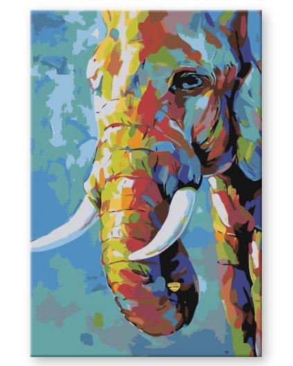 Malowanie po numerach – Malowany słoń
