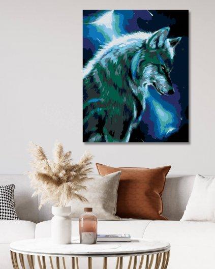 Malowanie po numerach – Księżycowy wilk
