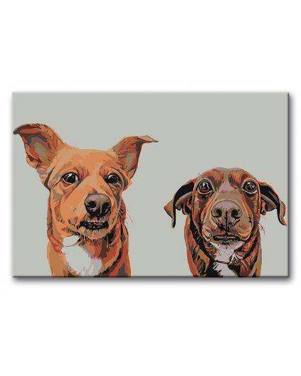 Malowanie po numerach - Niektóre psy