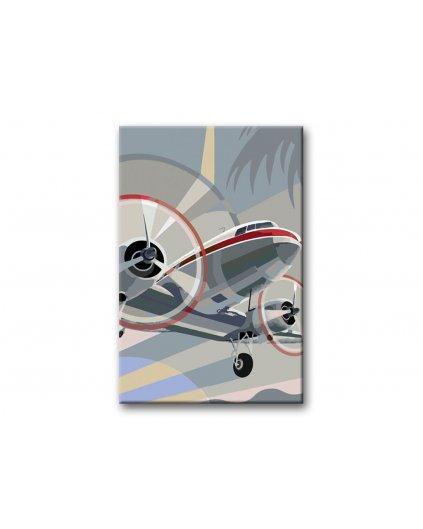 Malowanie po numerach – Samolot w locie