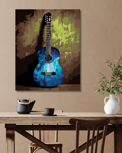 Malowanie po numerach - Gitara – abstrakcja